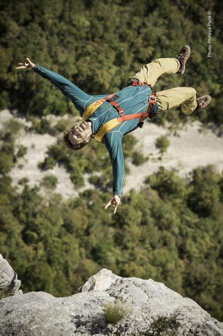 Choranche (38), Octobre 2014: basejump dans le Vercors. Photographe: